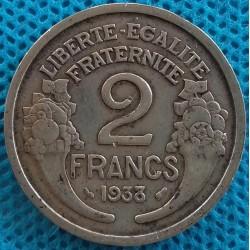 PIÈCE MONNAIE 2 FRANCS 1938...