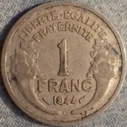 PIÈCE MONNAIE 1 FRANC 1944...