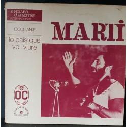 "DISQUE 33 TOURS MARTI ""LO..."