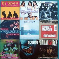 LOT DE 9 CD SINGLE DANCE...