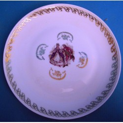 Six assiettes plate en...