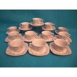 12 Tasses a cafés décor...
