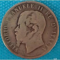 PIÈCE MONNAIE ITALIE 1863...