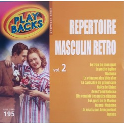 "CD ""PLAY BACKS""  RÉPERTOIRE..."