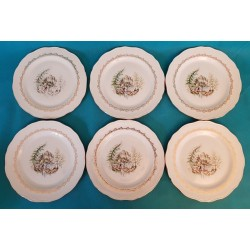 SIX ASSIETTES PLATES EN...